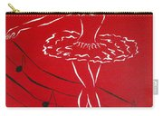 Ballerina In Red Carry-all Pouch
