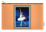 Ballerina On Stage L B With Alt. Decorative Ornate Printed Frame. Carry-all Pouch