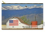 Balloon Barn And Mountains Carry-all Pouch