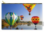 Balloon Reflections Carry-all Pouch by Mike  Dawson