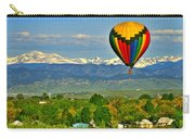 Ballooning Over The Rockies Carry-all Pouch by Scott Mahon