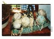 Balls Of Cloth Strips In Basket Carry-all Pouch