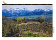 Balsamroot Flowers And North Cascade Mountains Carry-all Pouch