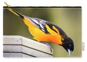 Baltimore Oriole About To Jump Carry-all Pouch