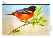 Baltimore Oriole Bird Carry-all Pouch