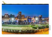 Baltimore Skyline Panorama At Dusk Carry-all Pouch