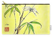 Bamboo And Dragonfly Carry-all Pouch