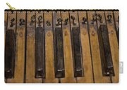 Bamboo Organ Keys Carry-all Pouch