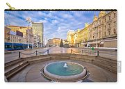 Ban Jelacic Square In Zagreb Advent View Carry-all Pouch