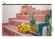 Bananas And Pineapple On Terracotta Steps Carry-all Pouch