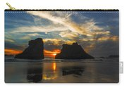 Bandon Beach Sunset In Oregon Usa Carry-all Pouch