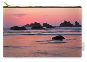 Bandon Beach Sunset Silhouette Carry-all Pouch