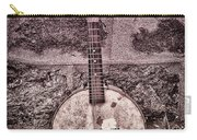 Banjo Mandolin On Garden Wall Carry-all Pouch