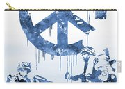 Banksy Soldiers-blue Carry-all Pouch