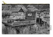 Bannack Extended Parking Black And White Carry-all Pouch