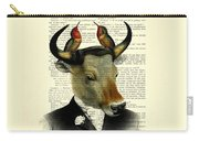 Banteng With Hummingbirds Carry-all Pouch