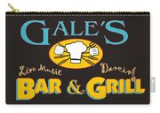 Bar And Grill Sign Carry-all Pouch