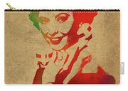 Barbara Stanwyck Watercolor Portrait Carry-all Pouch