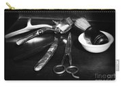 Barber - Things In A Barber Shop - Black And White Carry-all Pouch