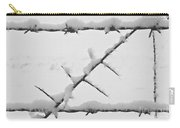 Barbwire Fence In Snow 1 Carry-all Pouch