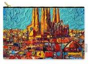 Barcelona Abstract Cityscape - Sagrada Familia Carry-all Pouch
