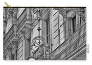 Barcelona Balconies In Black And White  Carry-all Pouch