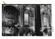 Barcelona Cathedral Interior Bw Carry-all Pouch