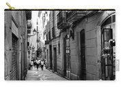 Barcelona Small Streets Bw Carry-all Pouch