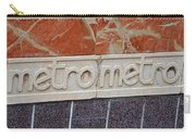Barcelona Spain Metro Sign Carry-all Pouch