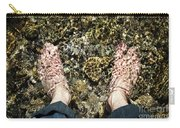Bare Feet In A Cold Mountain Stream Carry-all Pouch