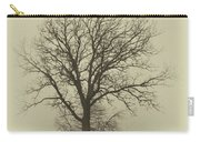 Bare Tree In Fog- Nik Filter Carry-all Pouch