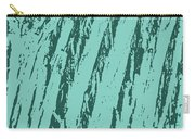 Bark Texture Turquoise Carry-all Pouch