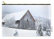 Barn After Snow Carry-all Pouch