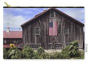 Barn And American Flag Carry-all Pouch