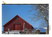 Barn And Blue Sky Carry-all Pouch