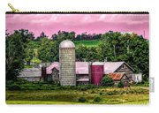 Barn And Silo With Infrared Touch Of Pink Effect Carry-all Pouch