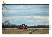 Barn And Split Rail Fence Carry-all Pouch