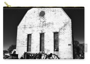 Barn And Tractor In Black And White Carry-all Pouch