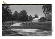 Barn At Yonah Mountain In Black And White 1 Carry-all Pouch