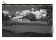 Barn At Yonah Mountain In Black And White 4 Carry-all Pouch