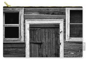 Barn Door And Windows Bw Carry-all Pouch