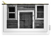 Barn Door And Windows Bw Poster Carry-all Pouch