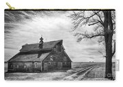 Barn In Black And White Carry-all Pouch