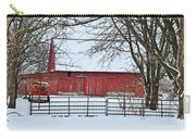 Barn In The Winter Carry-all Pouch