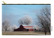 Barn On Frosty Morn Carry-all Pouch