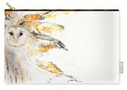 Barn Owl And Tree Carry-all Pouch