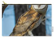Barn Owl Framed In Cottonwood Carry-all Pouch