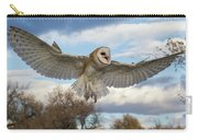 Barn Owl Makes A Happy Landing Carry-all Pouch