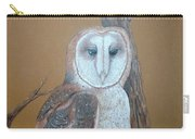 Barn Owl On Tree Carry-all Pouch