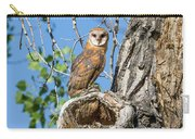 Barn Owl Owlet Keeps Watch Carry-all Pouch